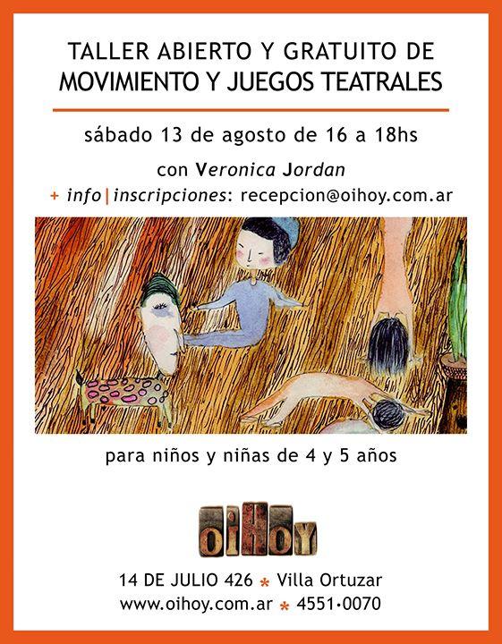 Encuentro Gratuito de Movimiento y Juegos Teatrales 13 - OiHoy Casa Abierta