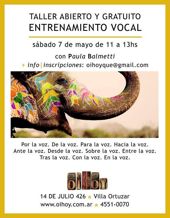 JORNADA GRATUITA de ENTRENAMIENTO VOCAL 13 - OiHoy Casa Abierta