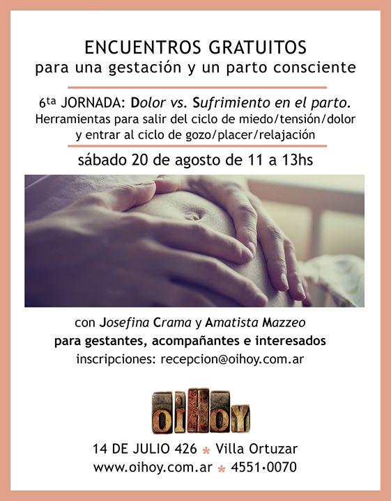 6ta Jornada Gratuita de Parto y Gestación 13 - OiHoy Casa Abierta
