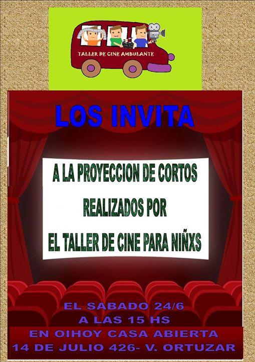 Taller de Cine Reciclado para Niñxs 13 - OiHoy Casa Abierta