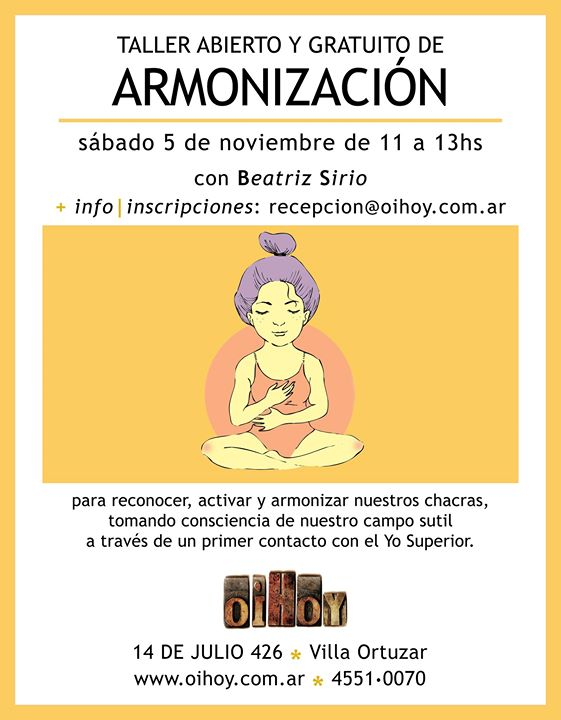 Taller Gratuito de Armonización 13 - OiHoy Casa Abierta