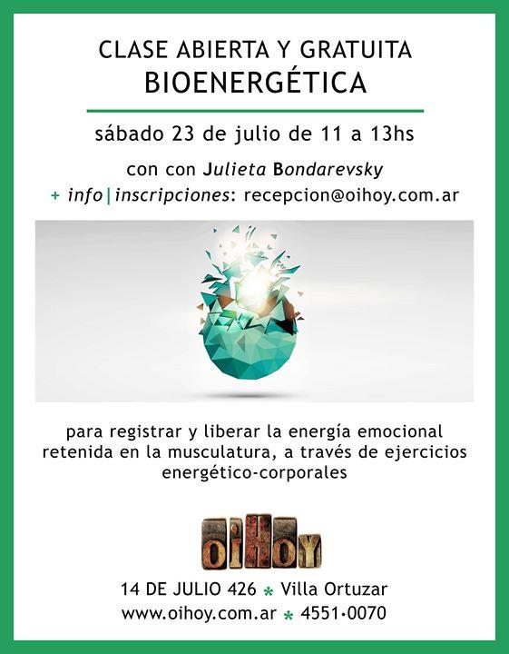 Encuentro Gratuito de Bioenergética 13 - OiHoy Casa Abierta
