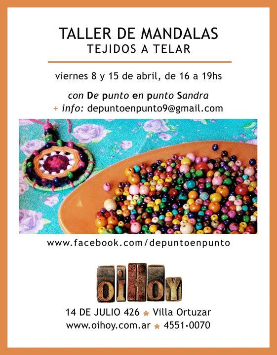Taller | MANDALAS TEJIDOS A TELAR 13 - OiHoy Casa Abierta