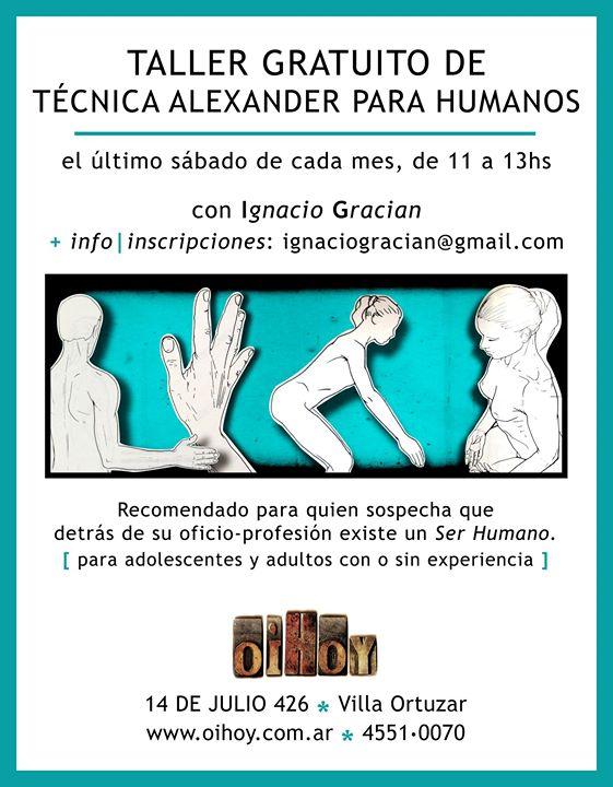 TALLER GRATUITO de Técnica Alexander 13 - OiHoy Casa Abierta