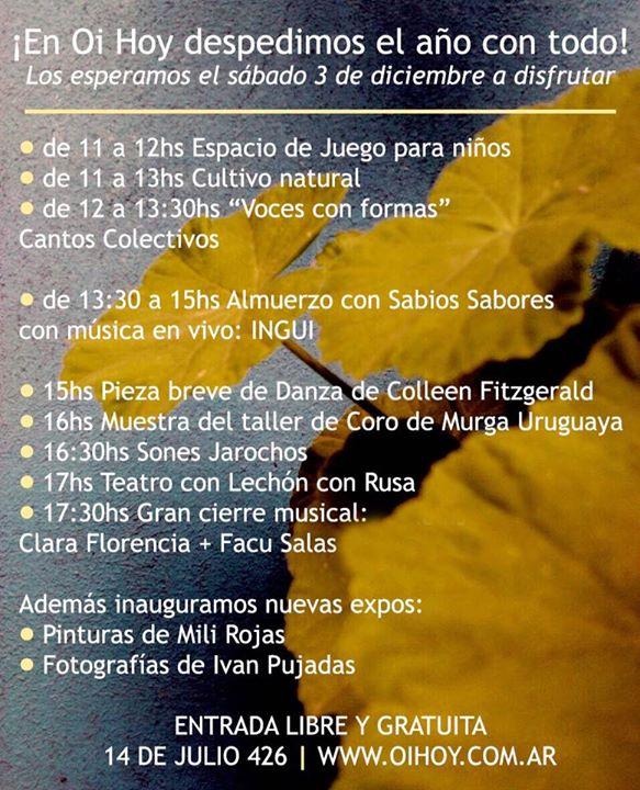 Oi Hoy despide el 2016 con todo! 13 - OiHoy Casa Abierta