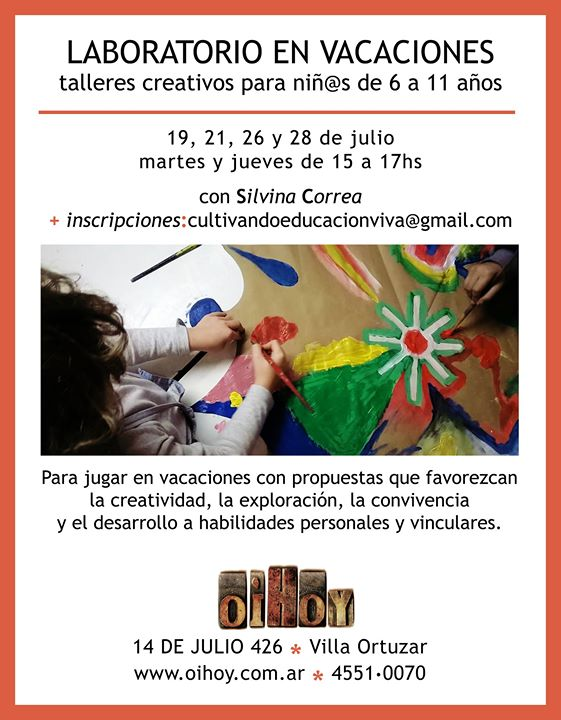 Laboratorio Creativo en Vacaciones de Invierno 13 - OiHoy Casa Abierta