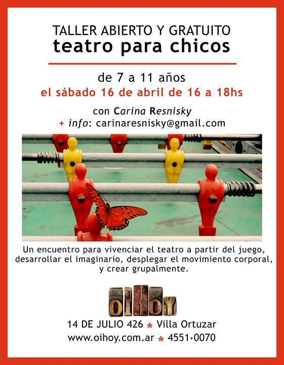 Taller de teatro para niños (GRATUITO) 13 - OiHoy Casa Abierta