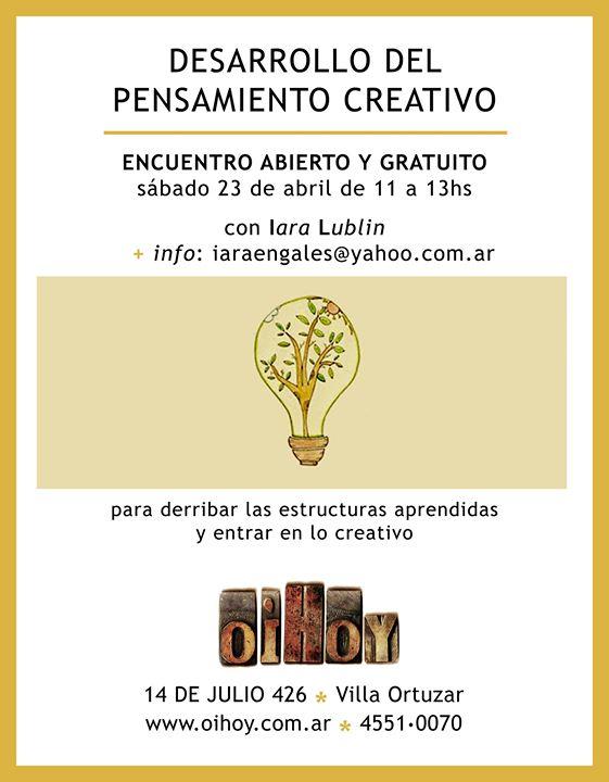 Desarrollo del pensamiento creativo (GRATUITO) 13 - OiHoy Casa Abierta