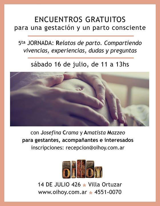 Encuentros Gratuitos de Parto y Gestación 13 - OiHoy Casa Abierta