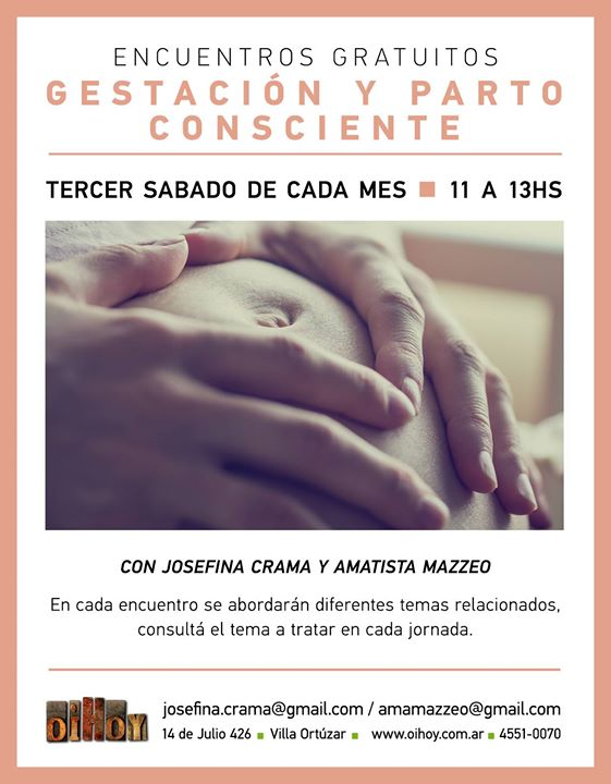 Encuentros gratuitos de Gestación y Parto Consciente 13 - OiHoy Casa Abierta