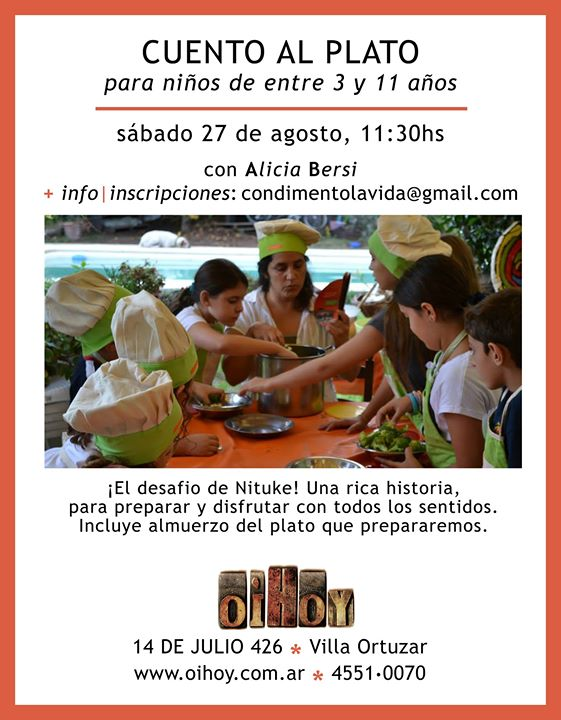 Cuento al Plato, para niños! A cocinar y contar! 13 - OiHoy Casa Abierta