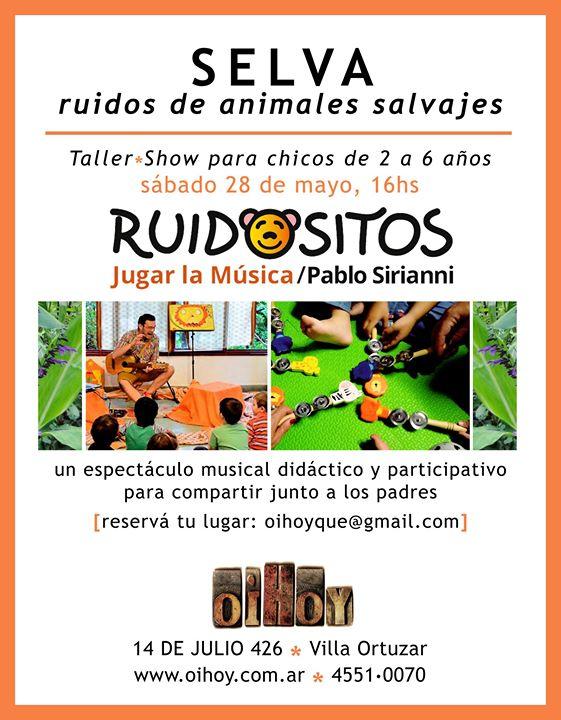 Taller-Show JUGAR a la Musica en Oihoy 13 - OiHoy Casa Abierta