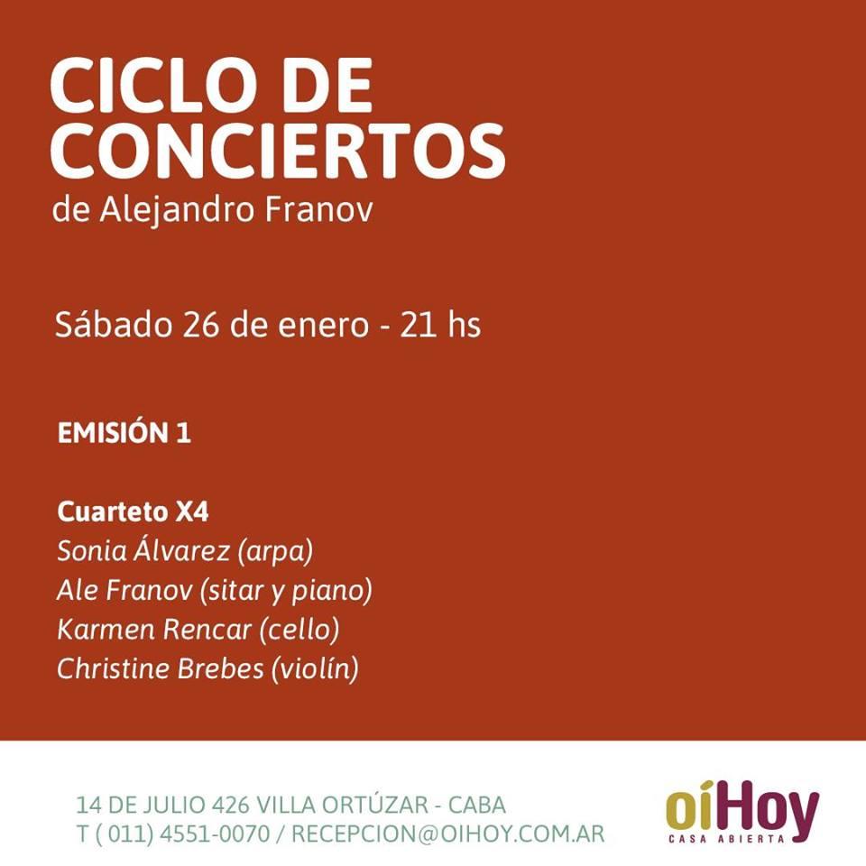 Ciclo de conciertos de Alejandro Franov | Emisión 1 13 - OiHoy Casa Abierta
