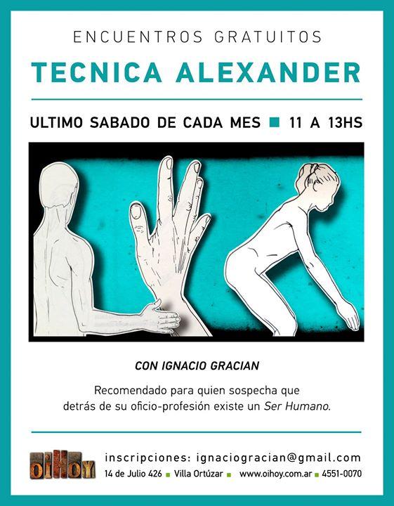 Clase Gratuita de Técnica Alexander // Marzo 13 - OiHoy Casa Abierta
