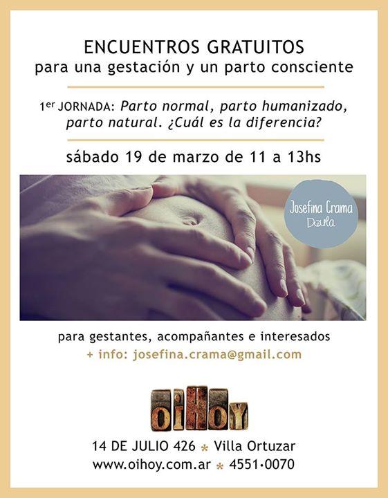 Gestación y Parto Consciente | ENCUENTROS GRATUITOS! 13 - OiHoy Casa Abierta